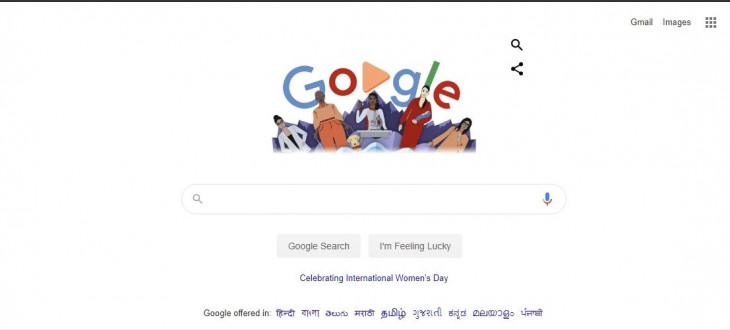 गूगल ने महिला अधिकारों की लड़ाई को समर्पित किया डूडल