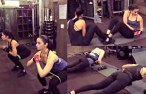 बॉलीवुड: कैटरीना कैफ ने जिम में आलिया भट्ट का किया बुरा हाल, देखें Video