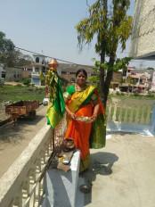 चैत्र नवरात्रि पर कोरोना का साया, घर परे ही हुई पूजा - आज मॉ शैलपुत्री की पूजा