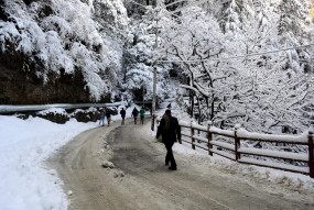 शिमला, मनाली में फिर बर्फबारी