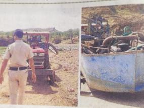 प्रशासन की व्यस्तता का लाभ उठा रहा रेत माफिया-अवैध तरीके से निकल रही थी रेत