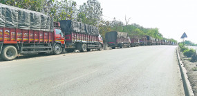 लॉकडाउन का असर, वाड़ी में 1 हजार ट्रकों की कतार, ट्रांसपोट व्यवसाय ठप