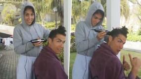 कोहली के बाद रोनाल्डो ने भी गर्लफ्रेंड से कटवाए बाल