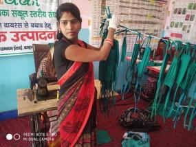 बिहार में मास्क की कमी दूर कर रही जीविका दीदी