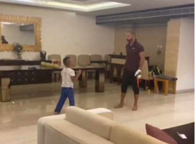 Watch Viral Video: धवन ने बेटे जोरावर के साथ घर पर खेली 'क्वारंटीन प्रीमियर लीग'