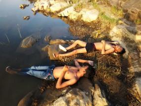 नदी में डूबने से दो बच्चों की मौत - अपने साथियों के साथ नहाने गए थे दोनों