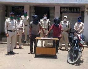 मोटरसाइकिल की डिक्की से उड़ाए थे 70 हजार रुपये - कंजर गिरोह के दो गिरफ्तार