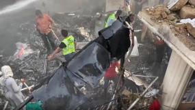 कराची विमान दुर्घटना में 97 लोगों की मौत, 2 जीवित बचे