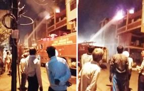 हादसा: एमपी नगर जोन 2 की एलोरा वाली बिल्डिंग में लगी आग, 4 फायर लॉरी मौके पर
