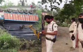 बिहार: भागलपुर में बस से टक्कर के बाद पलटा ट्रक, 9 मजदूरों की मौत, कई घायल