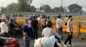 Corona Crisis: ऑरेंज जोन घोषित होने के बाद दिल्ली-गुरुग्राम सीमा पूरी तरह सील