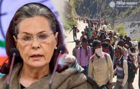 मजदूरों की मदद: सोनिया गांधी बोलीं- प्रवासियों की दुर्दशा देखे सरकार, उन्हें 7500 रुपये दे