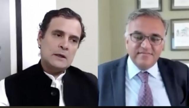 राहुल के साथ बातचीत में हावर्ड प्रोफेसर ने कहा, लॉकडाउन एक मकसद नहीं