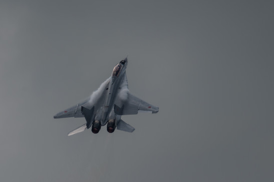 भारतीय वायुसेना का लड़ाकू विमान मिग-29 क्रैश हुआ