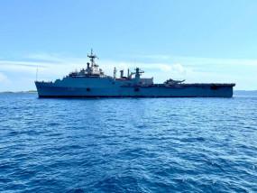मालदीव से 588 भारतीयों को लेकर स्वदेश लौटा आईएनएस जलाश्व