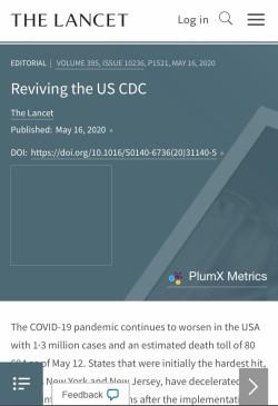अमेरिकी रोग नियंत्रण केंद्र की भूमिका को कम करने से वैश्विक स्वास्थ्य सहयोग खतरे में : द लांसेट
