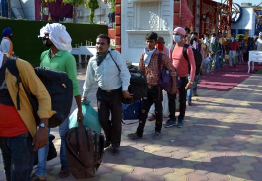 लॉकडाउन: मध्य प्रदेश में अबतक सवा पांच लाख श्रमिकों की हुई वापसी