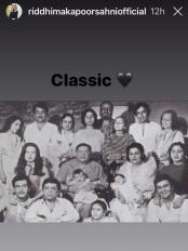 रिद्धिमा ने साझा की कपूर परिवार की क्लासिक तस्वीर
