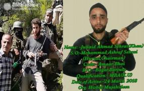 जम्मू-कश्मीर: रियाज नाइकू के बाद सैफुल्लाह या सहराई में किसी एक को कमांडर बना सकता है हिजबुल मुजाहिदीन