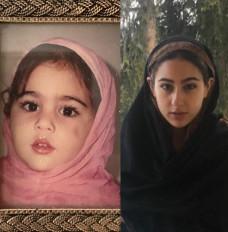 सारा ने साझा की बचपन की ईद की तस्वीर