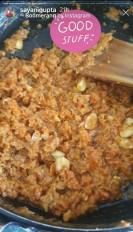 सयानी ने पहले प्रयास में बनाया गाजर का हलवा