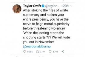 ट्रंप की अलोचना वाला स्विफ्ट का पोस्ट उनका सबसे ज्यादा लाइक किया जाने वाला ट्वीट बना