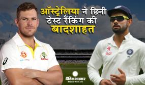 क्रिकेट: टेस्ट रैंकिंग में टीम इंडिया की बादशाहत छिनी, ऑस्ट्रेलिया टॉप पर पहुंची