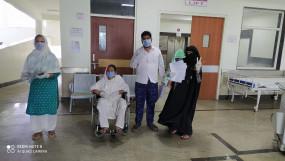 तीन माह के बच्चे ने जीती कोरोना से जंग, स्वस्थ होने पर आज दस लोगों को दी गई छुट्टी