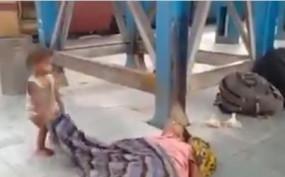 दर्दनाक: भूख-प्यास से हुई मां की मौत, बच्चा उसके कफन को चादर समझकर खेलता रहा कि... शायद मां उठ जाए