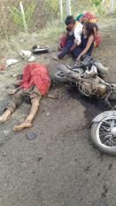 ट्रक ने बाइक सवार युवकों को रौंदा, दो की मौत