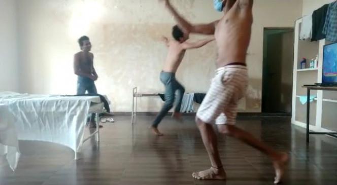 कोरोना पाजिटिव मरीजों का डांस करते विडिय़ो सोशल मिडिय़ा में वायरल