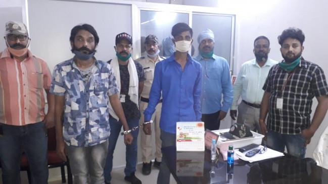 गांजा की तस्करी करने वाले 2 गिरफ्तार ,1 लाख रूपये का माल एवं इंडिका कार जप्त