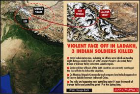 लद्दाख में 3 भारतीय जवान शहीद, राजनाथ ने स्थिति की समीक्षा की