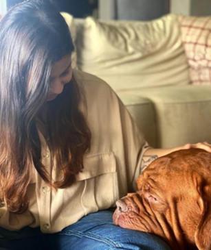 आलिया भट्ट ने रणबीर के पालतू कुत्ते के साथ साझा की तस्वीर
