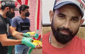मदद: प्रवासी मजदूरों को खाना, पानी और मास्क बांट रहे मोहम्मद शमी, BCCI ने शेयर किया वीडियो