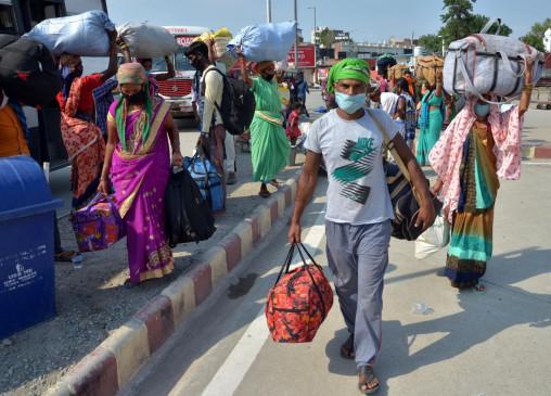 बिहार : फिर अन्य प्रदेशों की ओर लौटने लगे परेशान प्रवासी मजदूर