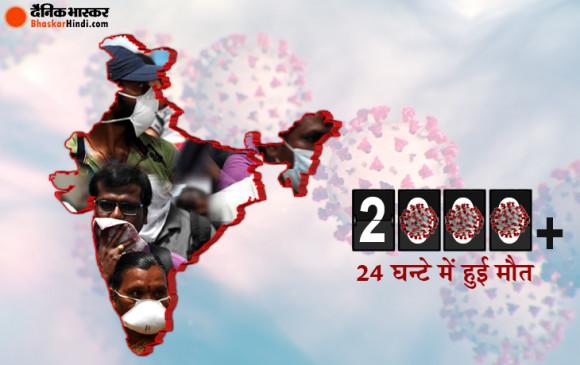 Corona in India: पहली बार 24 घंटे में दो हजार से ज्यादा की मौत, 10974 नए केस, कुल मामले 3.54 लाख के पार