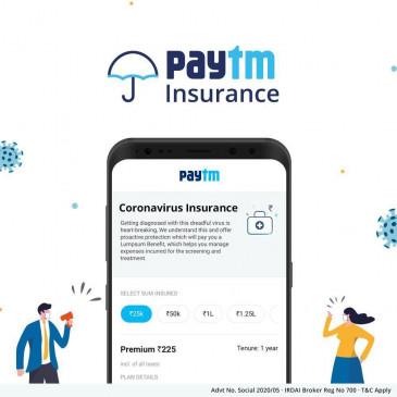 Coronavirus Insurance: Paytm App पर खरीदें केवल 225 रुपये में कोरोना वायरस बीमा और पाए 2 लाख तक का कवर