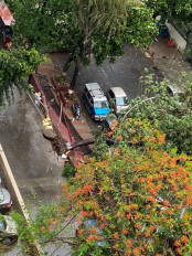 चक्रवात निसर्ग : महाराष्ट्र में रायगढ़ के तट से टकराने की प्रक्रिया शुरू