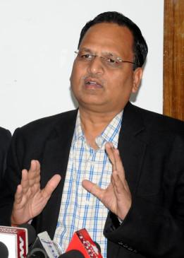 दिल्ली के स्वास्थ्य मंत्री सत्येंद्र जैन की कोरोना रिपोर्ट निगेटिव
