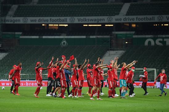 कोरोना के बीच फुटबॉल: बायर्न म्यूनिख ने लगातार 8वीं बार जीता बुंदेसलिगा का खिताब, वेर्डर ब्रेमेन क्लब को 1-0 से हराया