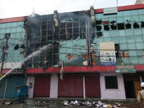 दिल्ली में आजादपुर के मठ में लगी आग