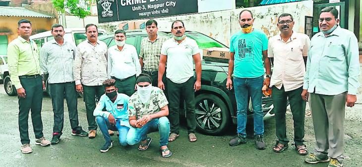कार में भरकर ले जा रहा था विदेशी शराब, पुलिस ने दबोचा