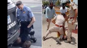 जोधपुर में भी फ्लॉयड जैसी घटना : पुलिस ने मास्क न पहनने पर व्यक्ति की गर्दन दबा दी