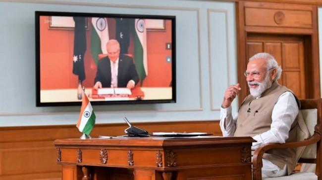 भारत व आस्ट्रेलिया का हिद-प्रशांत क्षेत्र में सामुद्रिक सहयोग पर करार