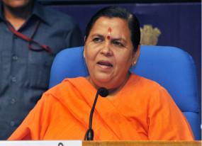 शिवराज मप्र को कानून व्यवस्था में मॉडल स्टेट बनाएं : उमा भारती