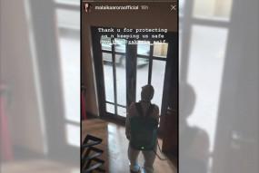 मलाइका ने अपनी इमारत को सैनिटाइज किए जाने की झलकी पेश की