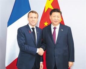 चीनी और फ्रांसीसी राष्ट्रपति के बीच फोन वार्ता
