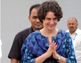 प्रियंका ने उप्र शिक्षक भर्ती मामले के अभ्यर्थियों को समर्थन का भरोसा दिया