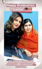 प्रियंका चोपड़ा ने मलाला से कहा, ऑक्सफोर्ड से आपकी डिग्री एक उपलब्धि